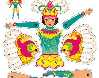 "Handicraft sheet ""Samba Dancer"""