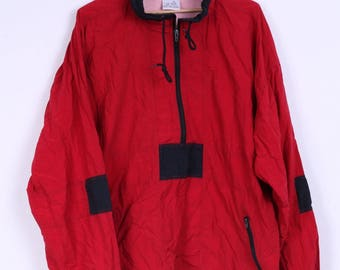 Marcel Clair Mens M Jacket Nylon Festival Waterproof Red Vintage