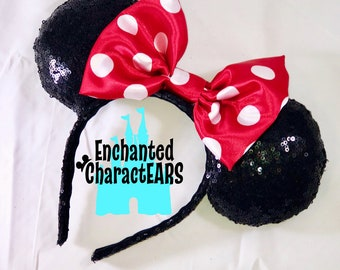 Classic Minnie Mouse Ears Minnie Ears Custom Minnie Ears