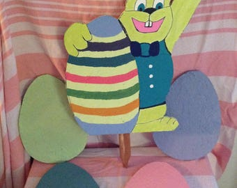 Easter Bunny with eggs -E