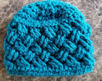 Celtic knot baby hat