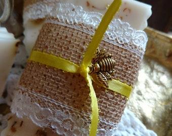 Honey Bee Rich Body Care - Ginger Lemon Tea Soap - 6 oz.