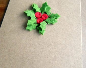 Holly Wreath - Greeting Card