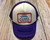 "Girls Toddler/Kid Purple Trucker Hat with ""Happy C..."