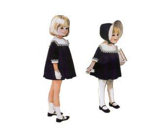 60s uncut Childs Dress pattern Girls Lace Trimmed Dress pattern Childs Party Dress pattern  21 inch size 2 McCalls 7992