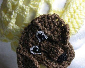 Crochet Pattern - Lace Dachshund Terrier Hat - Women's Hat - Animal Hat Pattern - Dog Lover Gift - Dachshund Pattern - Crochet Hat