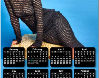 """Jennifer Lawrence 2018 Full Year View 8"""" Calendar - Magnet or Wall #3845"""