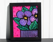Purple Pansies Wall Art -...