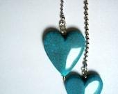 Fête des mères jour cadeau coeur lumière Fan tirer au plafond boule chaîne lampe romantique chambre Decor chambre d'enfant bleu coeur amour Tween Teen livraison gratuite