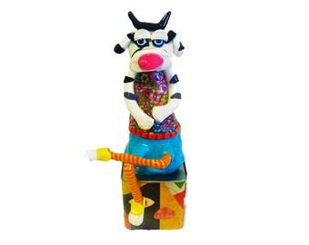 Cow sculpture, Shelf Sitter Cow, Cow decor, Cow decoration, Cow figure, Cow Art, Cow, Cows, Cow collectibles, Cow figurine, Cow statue
