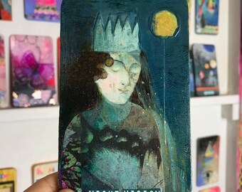 Night Vision - Hand Painted Wooden Oracle Card