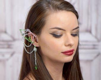 Elf Ear Cuff, Silver Branch Cuff, Elven Jewelry, Elf Ear, Forest Elf, Wood Elf, Elf Queen, Fairy , Silver Cuff, Cosplay,