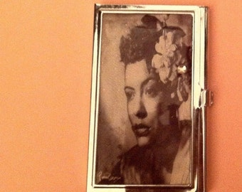 Billie Holiday Blues Business Card Holder Credit Card Case