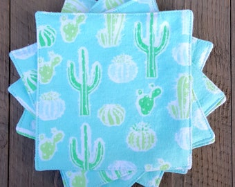 Everyday Napkins - Aqua Cacti