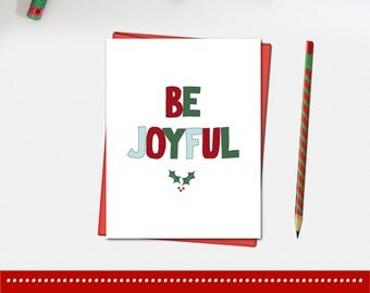 Be Joyful Christmas Card - Christmas Card - Xmas Card