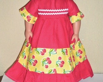 Red Cherry Dress---doll dress---Girl doll dress---doll clothes