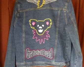 Grateful Dead - Embroidered Denim Jacket
