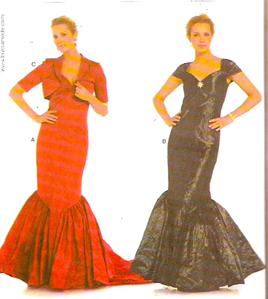 Evening fishtail ballgown party prom dress capelet sewing pattern sold by heychica jeuxipadfo Image collections