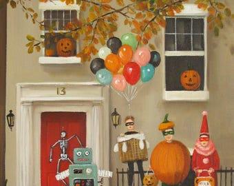 All Hallows' Eve, Hell's Kitchen, New York.  1989.  Art Print