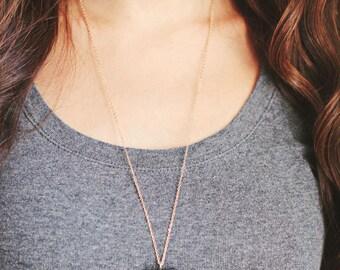Teardrop Moss Agate Necklace | Brass Necklace | 14k Gold Filled Necklace | Sterling Silver Necklace | Long Necklace