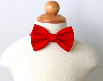 Red Bow Tie, Bow Tie for Boy, Toddler Bow Tie, Baby's Bow Tie, Bow Tie for Baby, Holiday Bow Tie, Christmas Bow Tie, Red Wedding, Cotton Bow