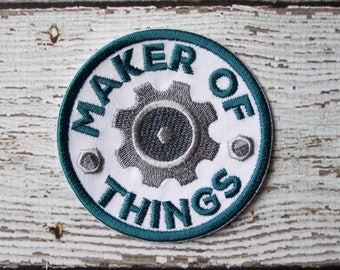 Maker Of Things Merit Badge Iron On Or Sew On Applique