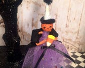 Halloween ornament halloween decor pumpkin doll candy corn party decor jack o lantern vintage retro inspired pumpkin ornament