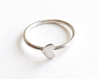 Love Eternity™ stacking rings, customized silver heart jewelry, personalized ring sets, special occasion or every day jewelry, heart ring
