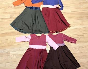 Junior Bamboo Fleece Dress - Warm Winter Dress for Older Girls and Tweens - Handmade from All Natural & Organic Fabrics