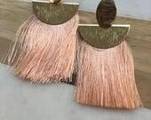 Unity Street Earrings in Pale Pink