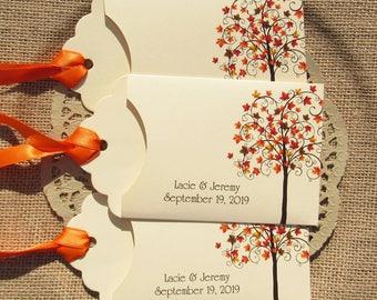 Fall Wedding Favors  | Wedding Favors Fall | Lottery Ticket Favor | Favors Fall Wedding  | Autumn Wedding | Fall Tree Favors | Wedding Lotto