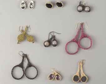 SAMPLE SALE - Earrings samples clearance - Unique wire crochet jewelry - Gift for Her