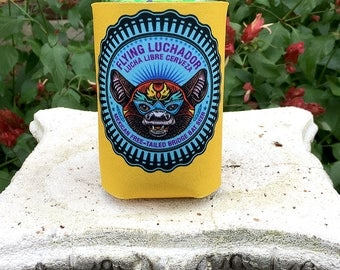 Flying Luchador Can Cooler-  Foam Can Cooler for Cans and Bottles