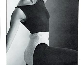Prime Moves 1008 Designer Bodywear Unitard Roll Top Dance Pant Ankle Capri Size S M L Vintage Sewing Pattern 1984