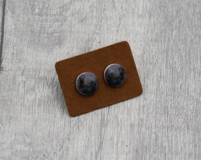 Moon Earrings, Teeny Tiny Earrings, Space Jewelry, Cute Earrings