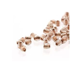 True2 Czech Firepolish Beads 2mm 18605 (600), Copper Lined Crystal Tiny Round Glass Beads, Faceted Glass Beads, Czech Glass Beads