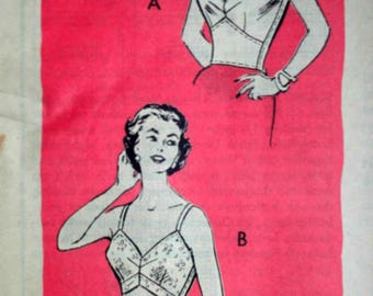 Vintage 60's Sewing Pattern, Anne Adams 4715 Bra Pattern, 34 Bust, 1960's Lingerie