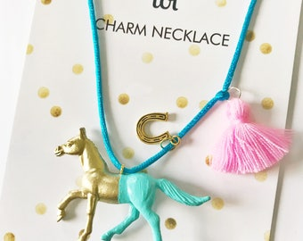 Horse Necklace. Kids Necklace. Girls Necklace. Kids Necklace. Girl Horse Necklace. Horse Jewelry. Girl Jewelry. Horse Lover Gift.
