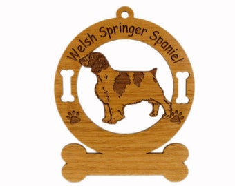 4206 Welsh Springer Spaniel Personalized Dog Ornament