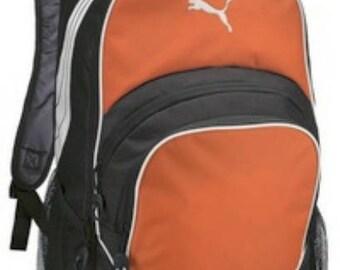 Puma Backpack-Orange Backpack-includes Monogram-School Bag-Diaper Bag