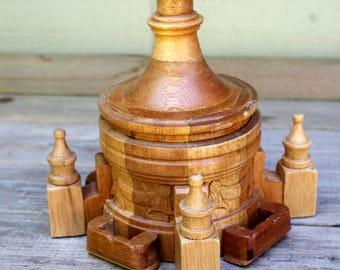 Carved Wood Cigarette Box