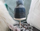 Navy and Grey Fair Isle Everyday Winter Hat
