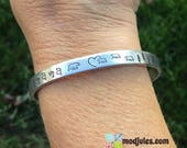 Mama Bear Bracelet, Hand stamped Mom Cuff, Mama Bear and Cubs, Mother and Babies, Mom and Children Jewelry, Custom Mom Jewelry, Mother's Day