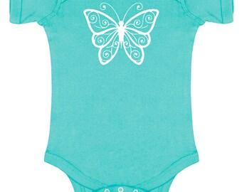 Butterfly Silhouette Baby Bodysuit
