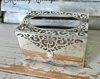 """GoRGeouS SiLVeR ENGRaVeD JeWeLRY BoX - """"HaPPY 80th BiRTHDaY"""""""