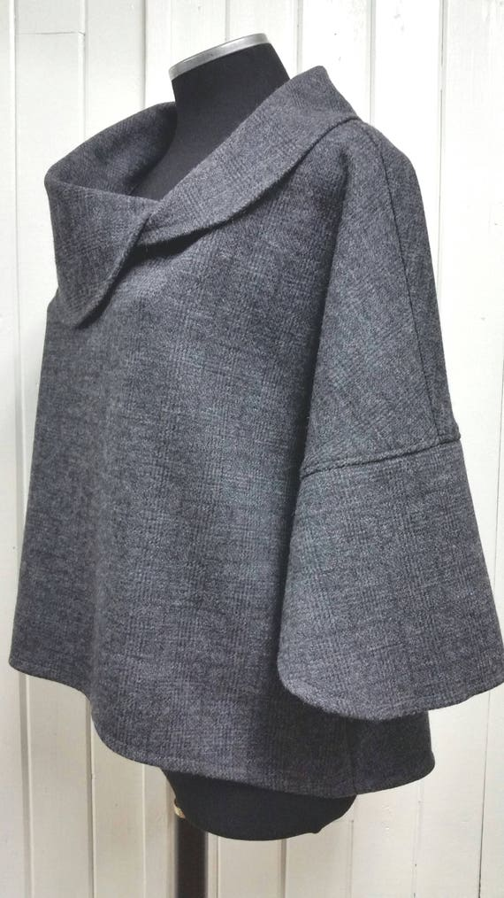 Mantle, women clothing, classic style, loose fit top, pure wool, stylish jacket, designer fashion
