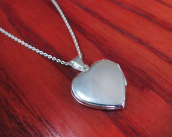 Sterling Silver Heart Locket with chain,