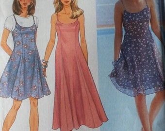 Princess Seamed Dress and Jumper Pattern  Simplicity 9682  Misses fit and flare jumper Misses size 10 12 14