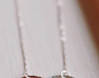 Sterling Silver & Copper Bubbles Necklace
