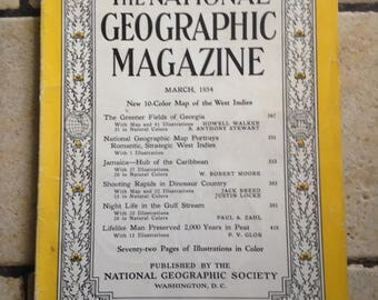 March, 1954 National Geographic Magazine